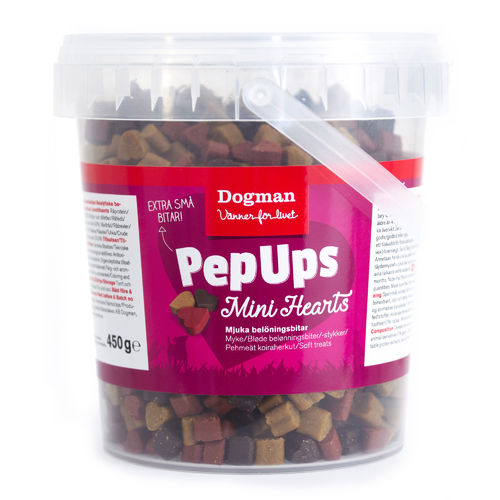 Pep Ups Mini Hearts Chicken & Game Meat