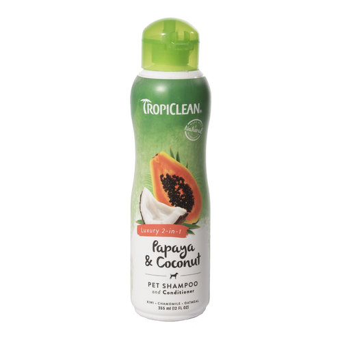 TropiClean Papaya & Coconut Luxury 2-in-1