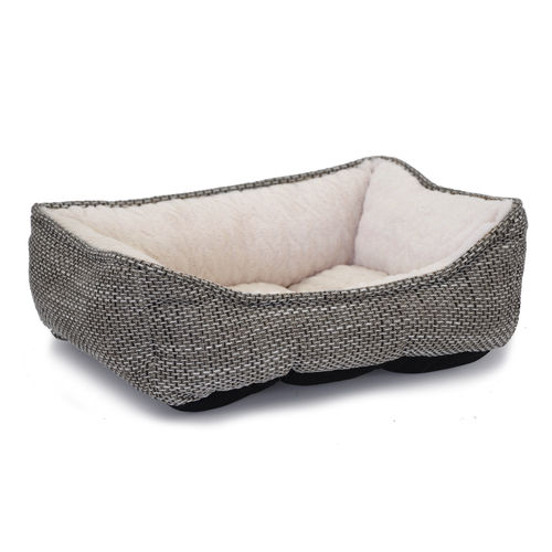 Mysan Rectangular Dog Bed Gray