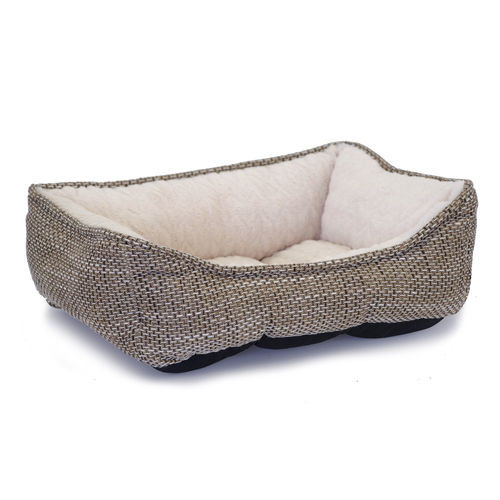 Mysan Rectangular Dog Bed Beige