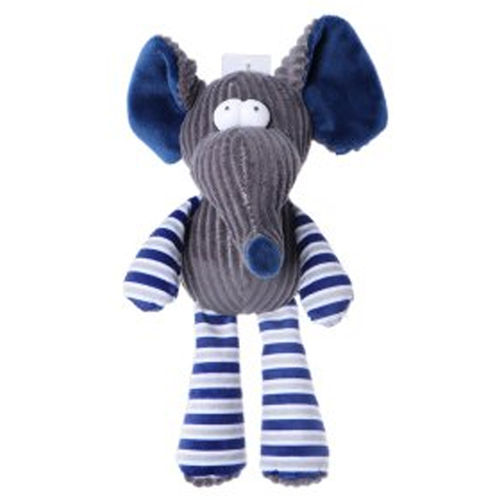 Chuckle City Plush Toy with Squeaker Elephant