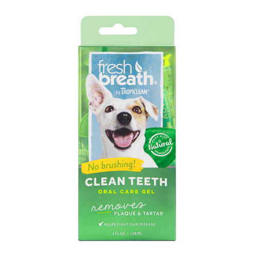 TropiClean Fresh Breath Dental Clean Teeth Gel 118 ml