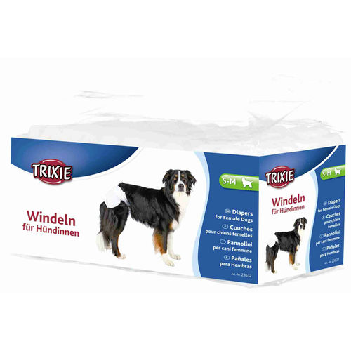 Trixie Diapers for Female Dogs 12 pcs