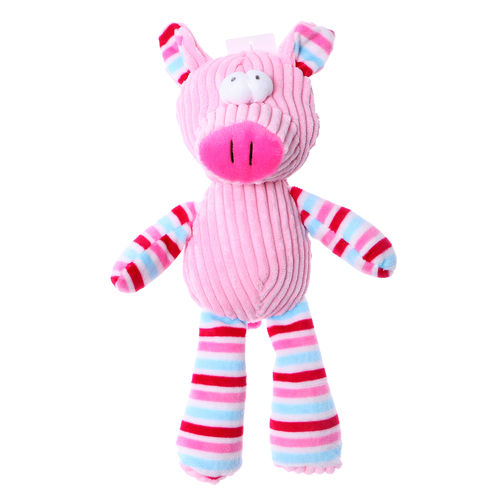 Chuckle City Plush Toy with Squeaker Pig