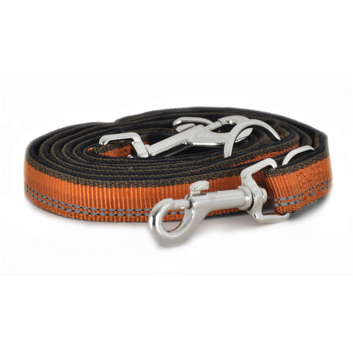 Kennel Equip Adjustable Dog Multi Leash 200 cm, Orange