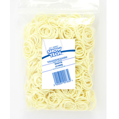 Show Tech Wrap Bands White - 1000 pcs Wrapping Bands
