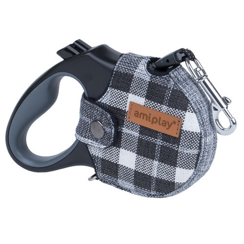 Amiplay London Retractable Leash With Cover M 15kg 5m