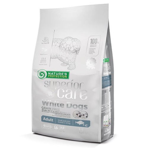 Nature's Protection Superior Care White Dogs Adult Vaaleakala Pienille